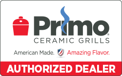 The Primo Authorized Dealer seal is the intellectual property of Creative Ceramic Technologies, Inc. and is used by permission per the required MAP agreement. All rights reserved